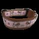 Beagle Halsband hellbraun rosa Sofortkauf