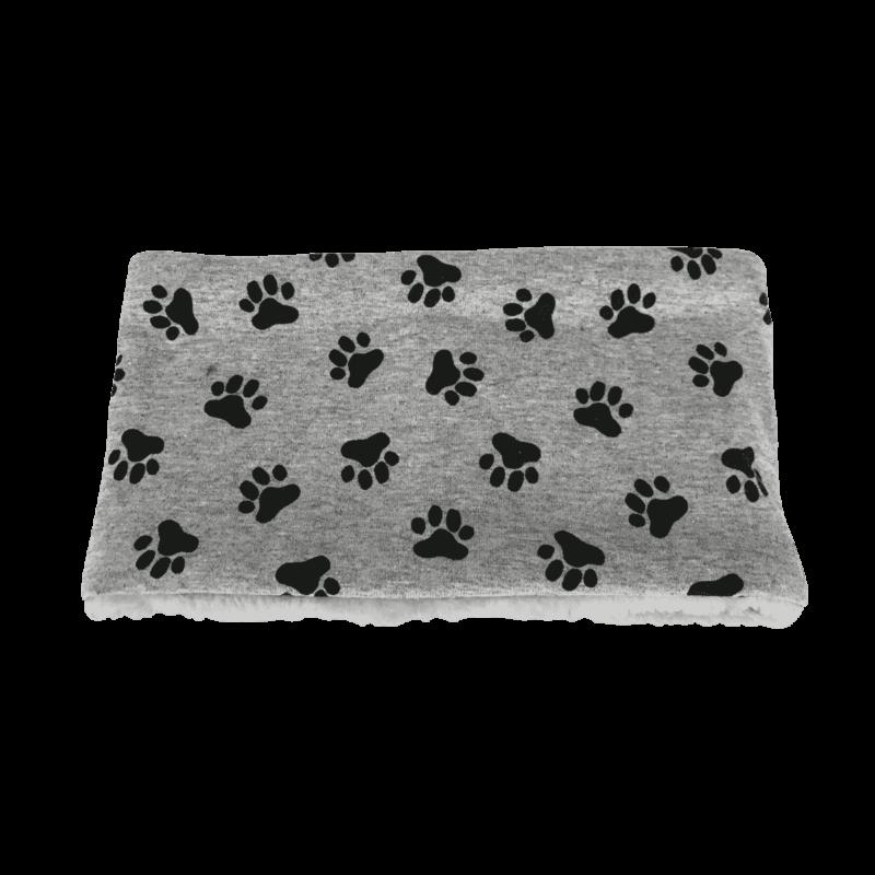 Hundehalssocke grau Pfoten schwarz ❤️ Beagletuff® - Rund um den Hund