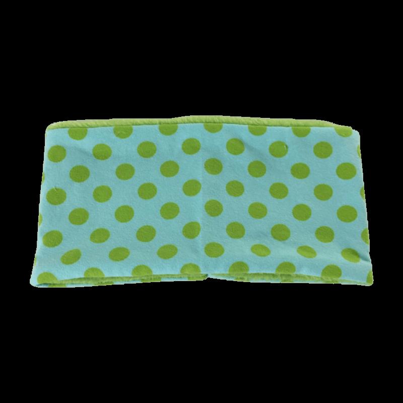 Hundehalssocke hellblau Punkte grün ❤️ Beagletuff® - Rund um den Hund