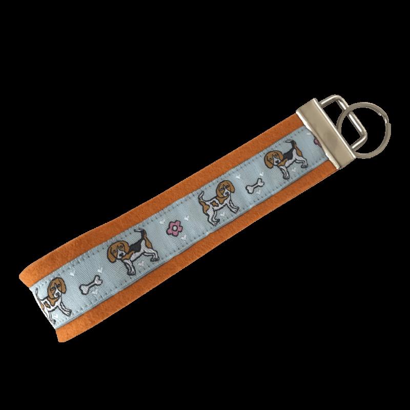 Schlüsselanhänger Beagle Wollfilz orange ❤️ Beagletuff - Rund um den Hund