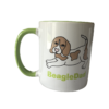 Beagle Tasse weiß grün Beagle bicolor BeagleDad