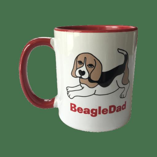Beagle Tasse weiß rot Beagle tricolor BeagleDad