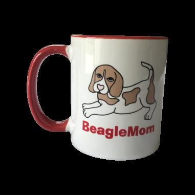 Beagle Tasse weiß rot Beagle bicolor BeagleMom
