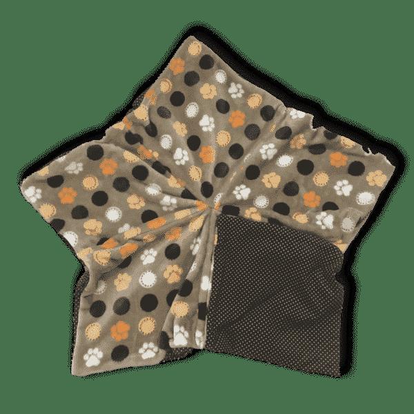 Sternenbodenkissen Gr. M beige Pfoten braun orange Punkte Sofortkauf 3
