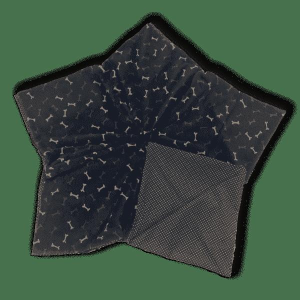 Sternenbodenkissen Gr. L dunkelblau Knochen beige braun Pünktchen Sofortkauf 3
