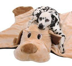 Knuffelwuff Hundedecke Hunter in Hundeform- Größe XXL 120 x 140cm