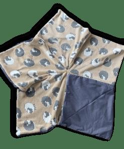 Sternenbodenkissen Gr. L beige Schafe grau weiß