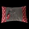 Schmusekissen klein taupe/rot Hundeliebe Mädchen