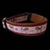 Beagle Halsband bordeaux rotbraun rosa Sofortkauf