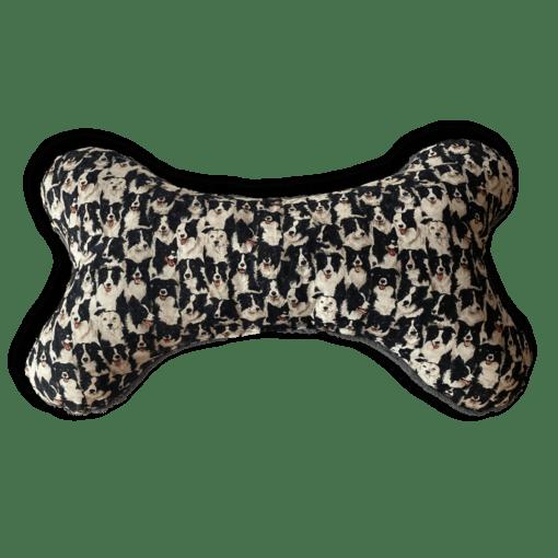 XXL Knochenkissen Border Collie schwarz/weiß
