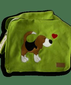 Canvastasche klein apfelgrün Beagle Kollektion Lotti