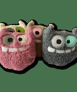 Kuschelmonster Monsti Baumwollteddy Kissen pink