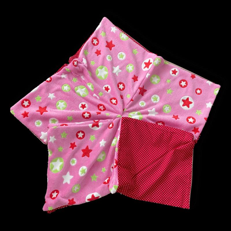 Sternenbodenkissen Gr. M rosa Sterne bunt Sofortkauf ❤️ Beagletuff® - Rund um den Hund
