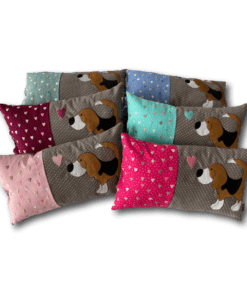 Schmusekissen klein taupe/pink Beagle Kollektion Lotti
