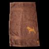 Gästehandtuch dunkelbraun Beagle Silhouette Sofortkauf