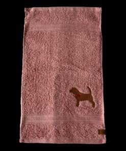 Gästehandtuch rosa Beagle Silhouette Sofortkauf