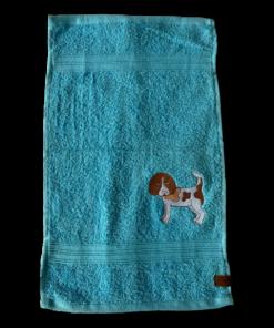 Gästehandtuch türkis Beagle bicolor Sofortkauf