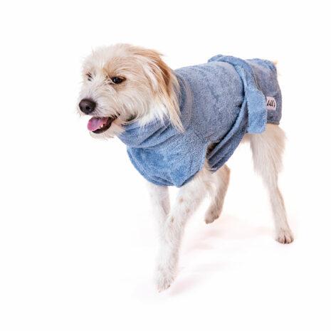 "Lill's Hundebademantel aus Bio-Baumwolle ""Ocean Blue"""