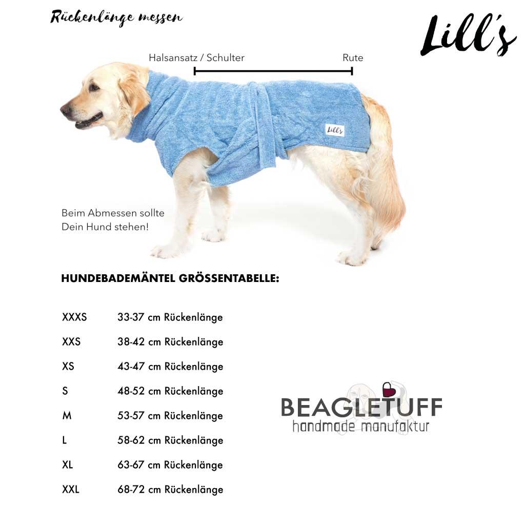 """Lill's Hundebademantel aus Bio-Baumwolle """"Green Leaf"""" GR. S ❤️ Beagletuff® - Rund um den Hund  ❤️ Beagletuff® - Rund um den Hund"""
